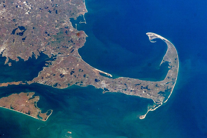 Cape  Cod From  Space  Nasa